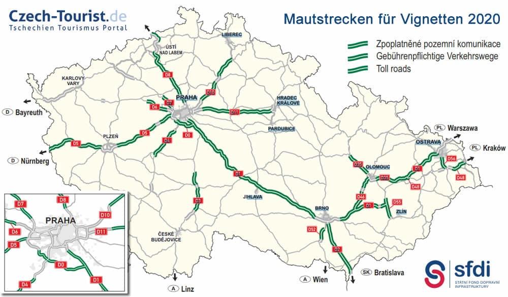 Autobahn Tschechien 2020 Ausbaustand Und Streckennetz Alle