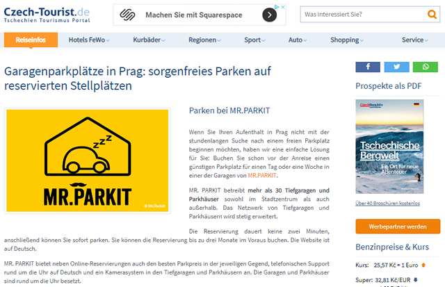 Advertorial Beispiel Mr. Parkit